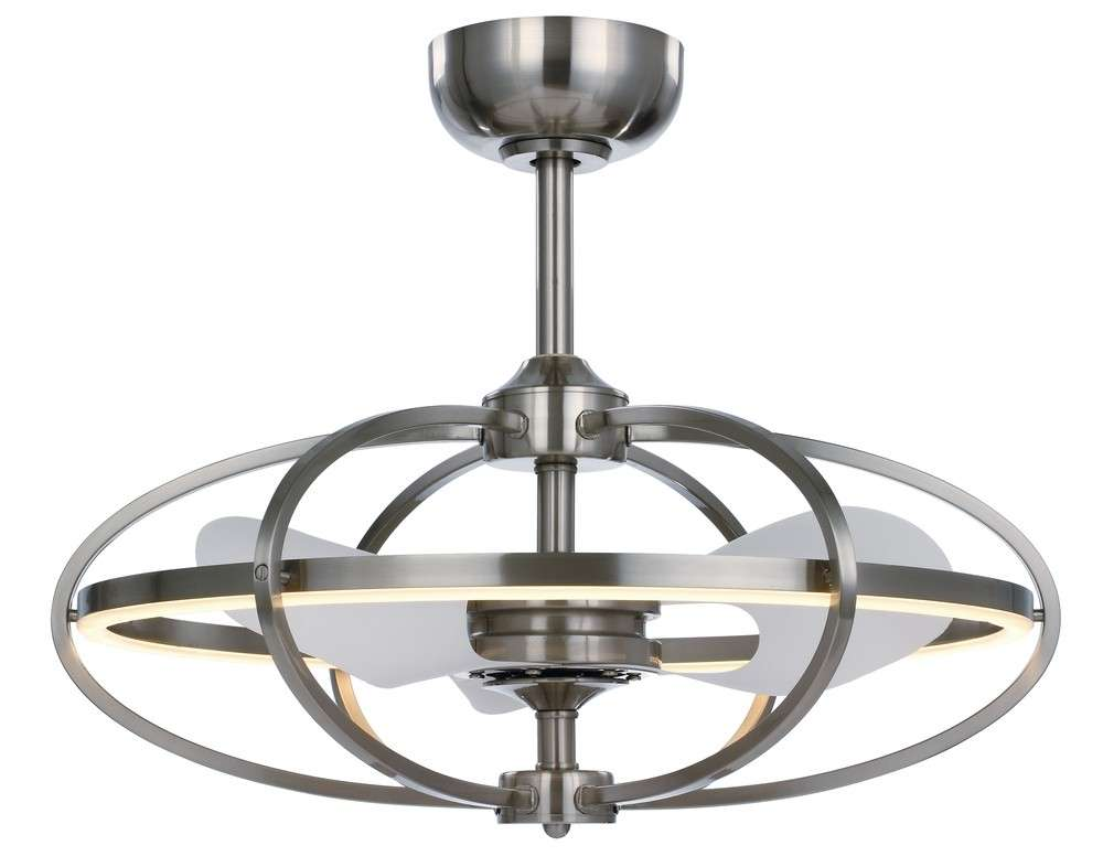 Corona LED Fandelier in Satin Nickel