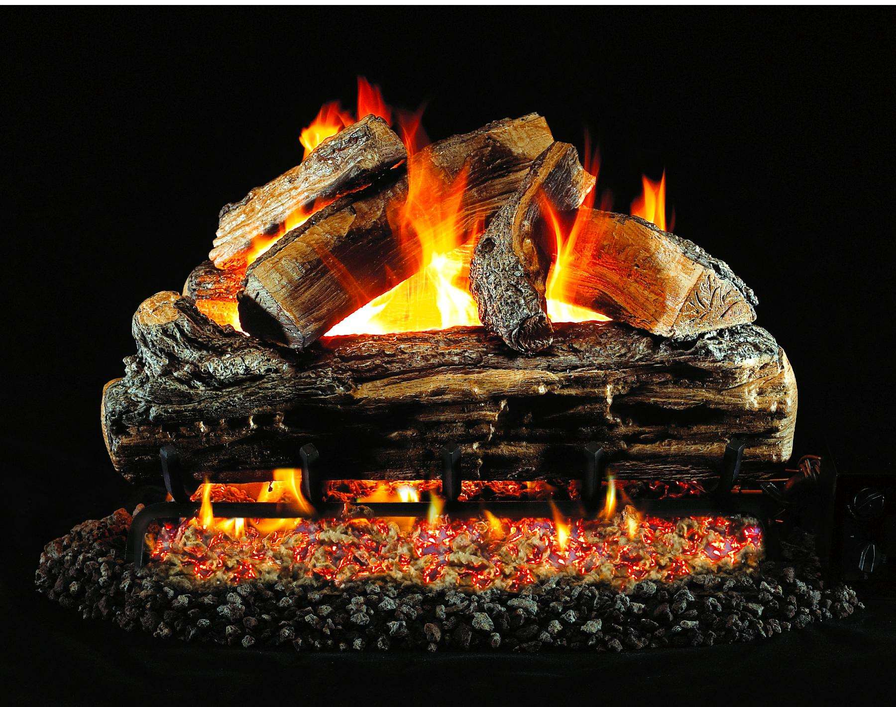 "R.H. Peterson S6-24 Standard 24"" Split Oak Low Stack. Logs Only (does not include burner). For use in wood burning fireplaces with a compatible vented gas log burner only."