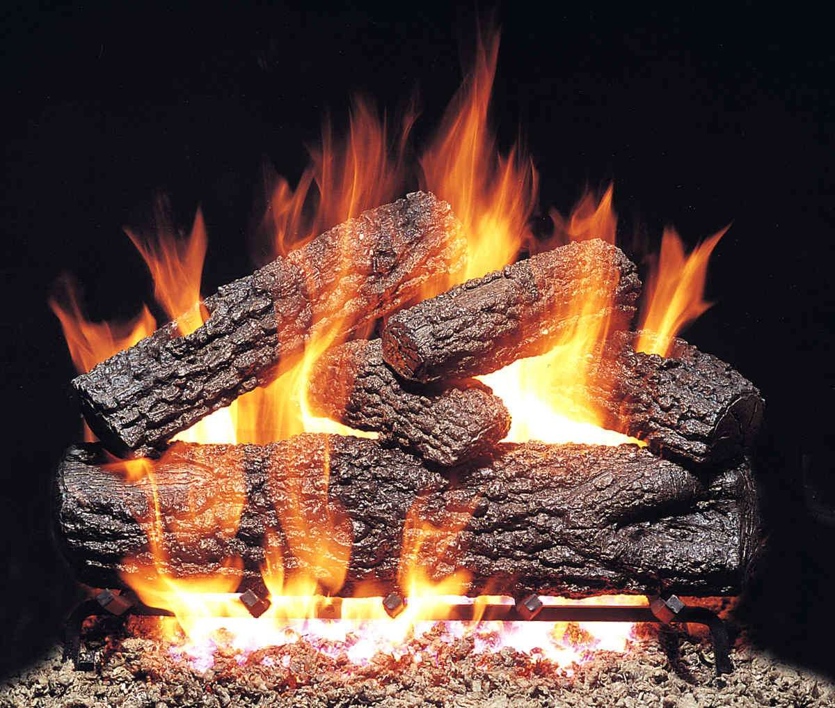 "R.H. Peterson PO-24 Standard 24"" Post Oak. Logs Only (does not include burner). For use in wood burning fireplaces with a compatible vented gas log burner only."