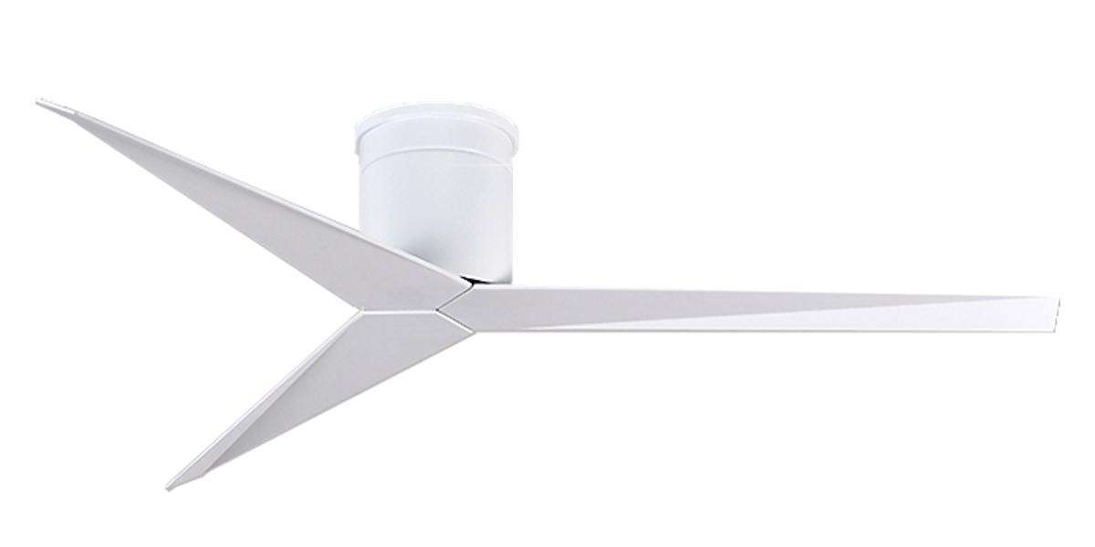 Matthews Fan Co. Atlas Eliza Hugger Ceiling Fan Model EKH-WH-WH in White
