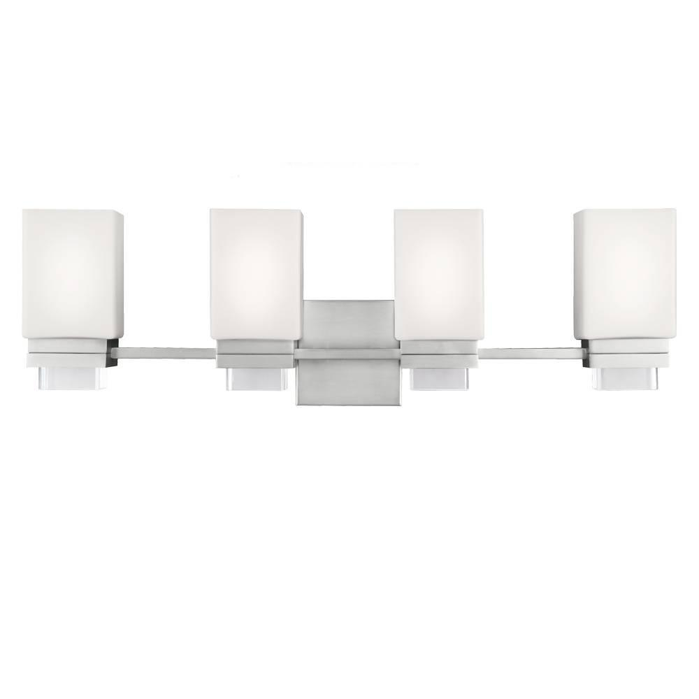 Maddison 4 - Light Vanity in Satin Nickel