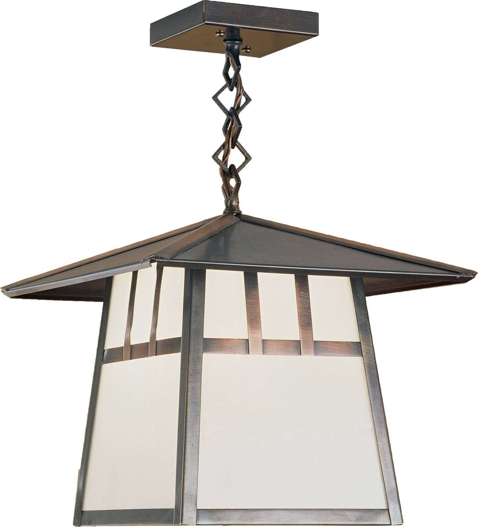 Meyda Tiffany 29528 Stillwater Double Bar Mission Ceiling Pendant in Craftsman Brown finish