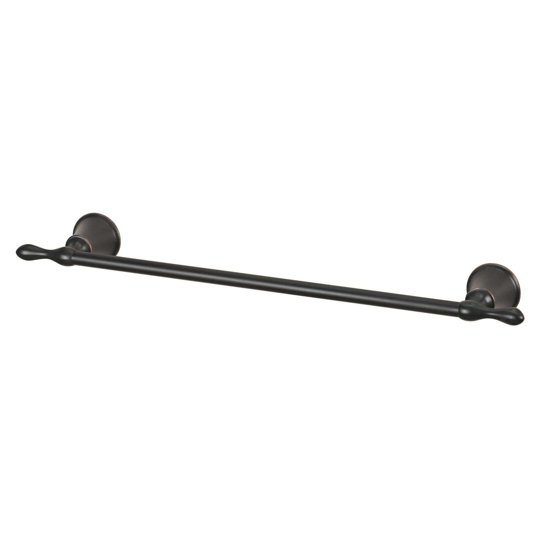 "Shelf - 24"" Towel Rail In Oil Rubbed Bronze - Zinc and Metal and Glass"