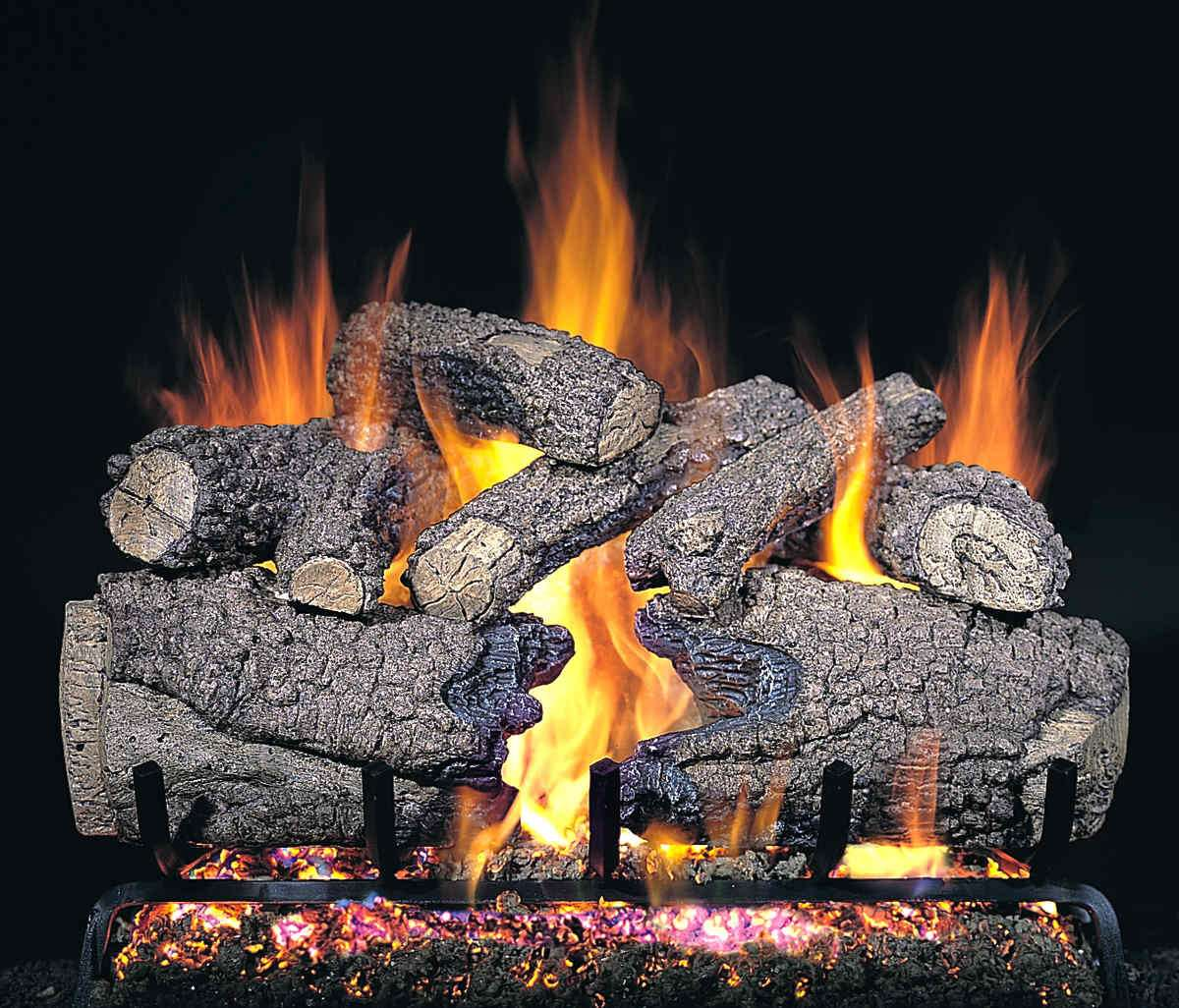"R.H. Peterson CHF-24 Standard 24"" Charred Forrest Oak. Logs Only (does not include burner). For use in wood burning fireplaces with a compatible vented gas log burner only."