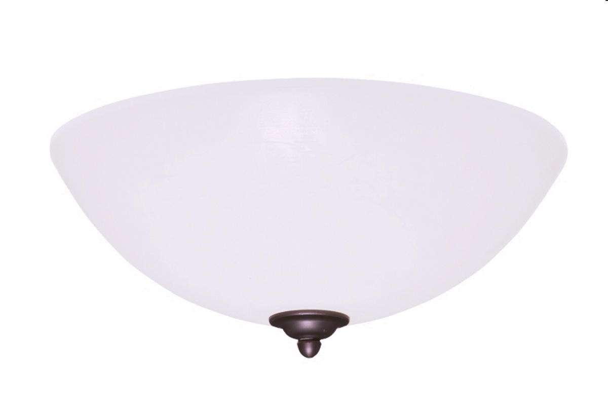 LK81WW Single Bowl Gloss White Ceiling Fan LED Light Fixture