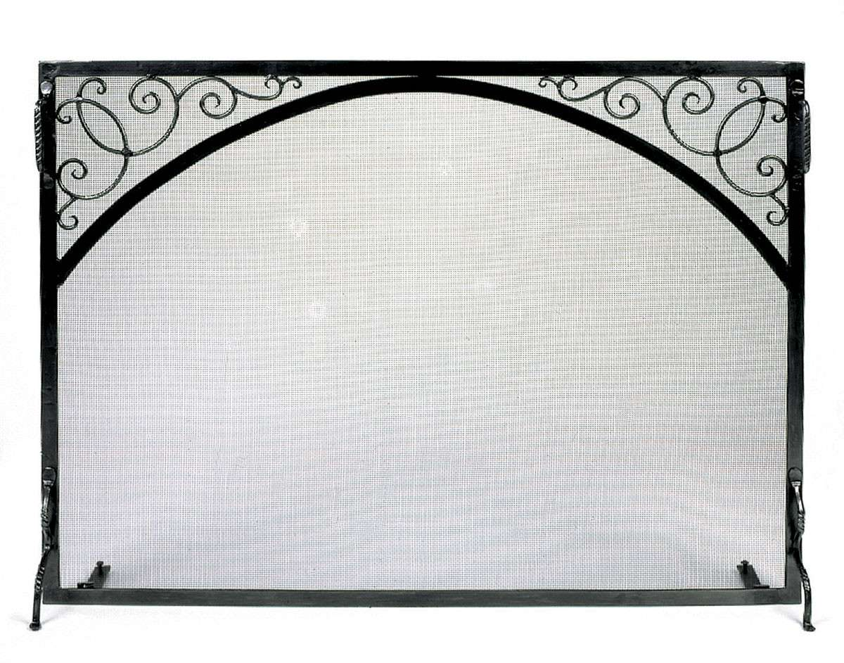 "Sterling Fire Screen Scroll & Arch - 38"" Wide x 30"" Tall"