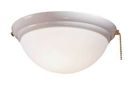Minka Aire K9373-L-WH Single Globe White Ceiling Fan Light Fixture