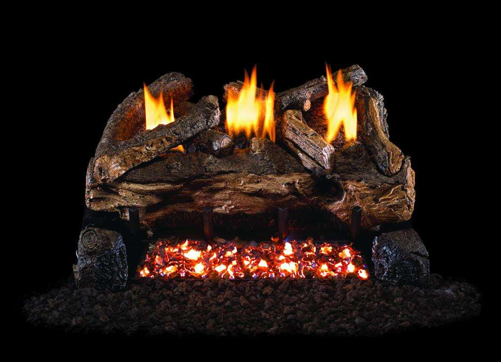 "R.H. Peterson ESV-2-18 SeeThru 18"" Ventless Evening Fyre Split. Logs Only (does not include burner). For use with compatible R. H. Peterson vent-free gas log burner system in approved vent free fireplaces only!"