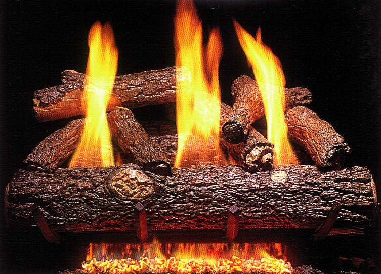 "R.H. Peterson RD9-20 Standard 20"" Ventless Golden Oak Designer. Logs Only (does not include burner). For use with compatible R. H. Peterson vent-free gas log burner system in approved vent free fireplaces only!"