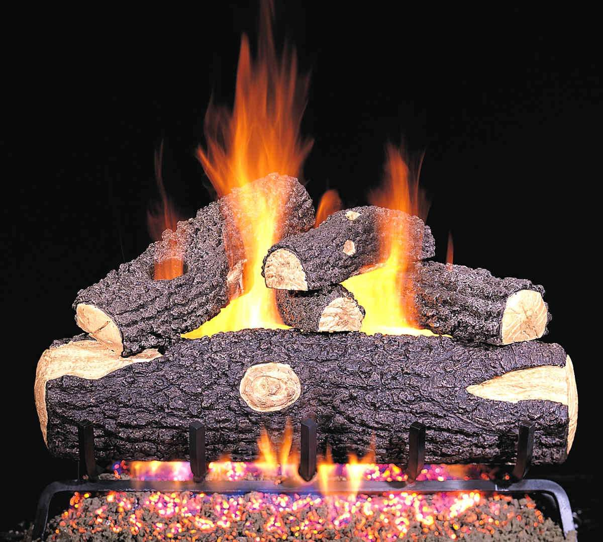 "R.H. Peterson WO-20 Standard 20"" Woodland Oak. Logs Only (does not include burner). For use in wood burning fireplaces with a compatible vented gas log burner only."