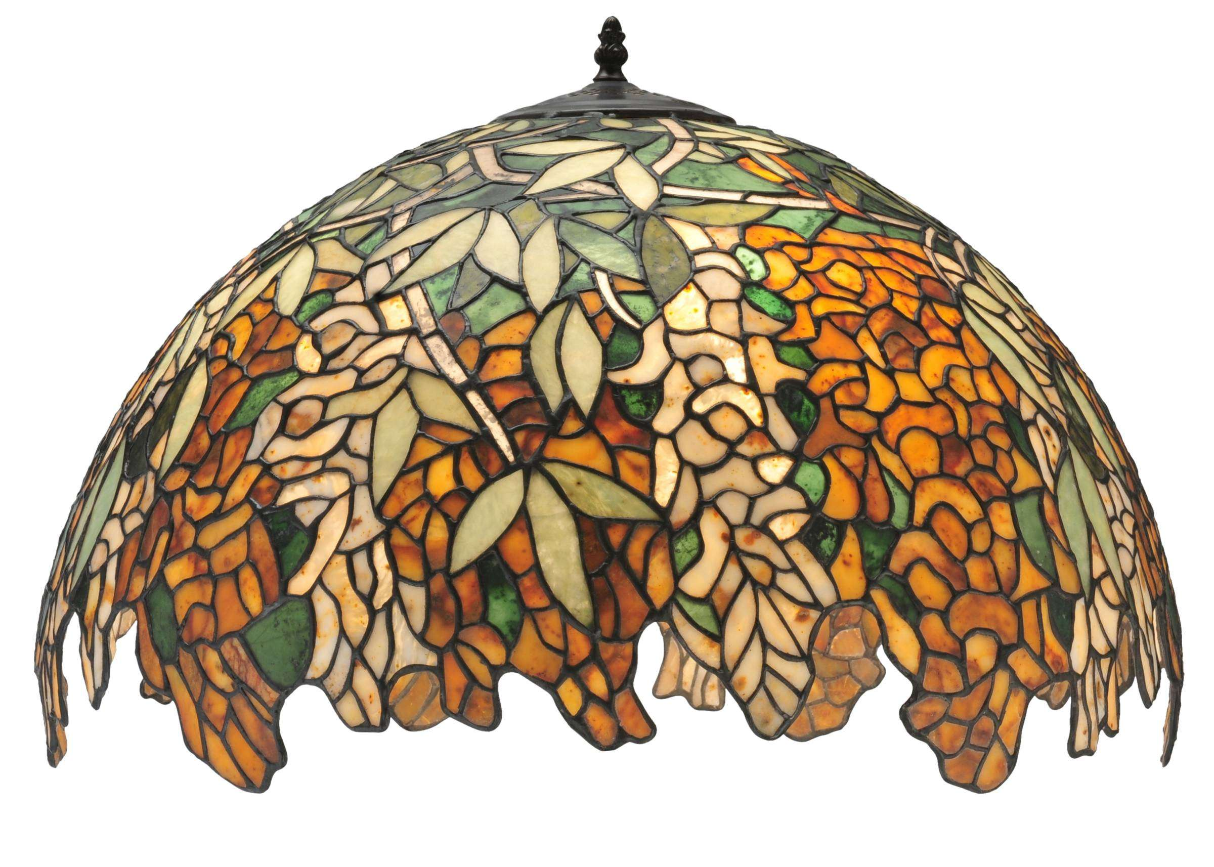 "22"" W Jadestone Tiffany Laburnum Shade. This Item Is Custom Made. Please Call For Lead Time."
