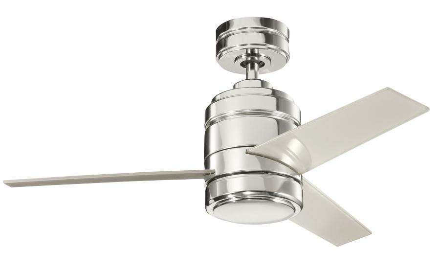 "Kichler 38"" Arkwright w/Polycarb Blades in Polished Nickel"