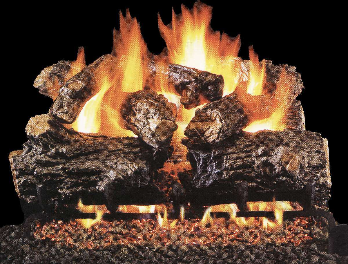"R.H. Peterson HCHR-24 Standard 24"" Burnt Rustic Oak. Logs Only (does not include burner). For use in wood burning fireplaces with a compatible vented gas log burner only."