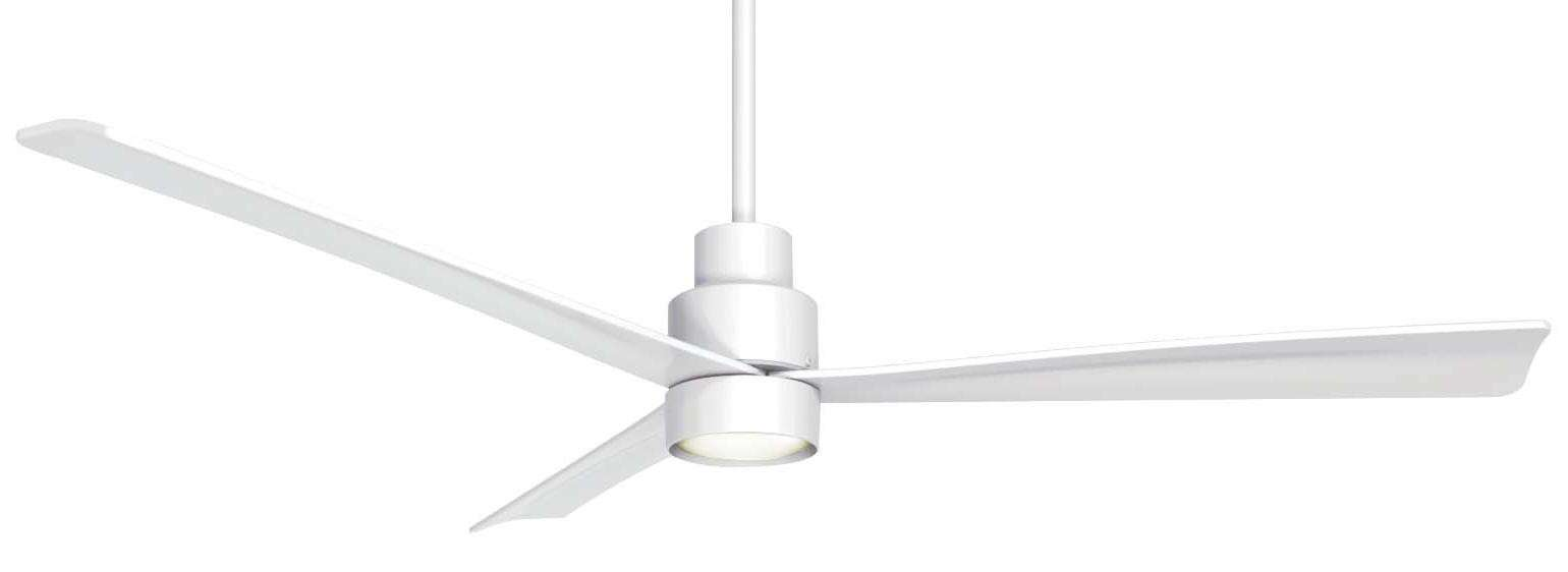 "Minka Aire Simple 52"" Ceiling Fan Model F787-WHF-K9787L-WHF in Flat White"