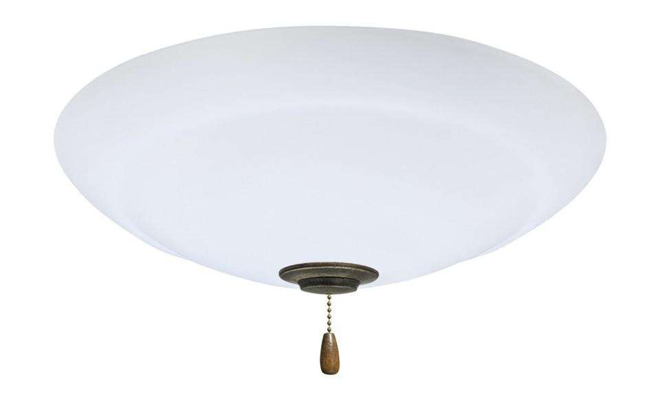 LK180VS Single Bowl Vintage Steel Ceiling Fan LED Light Fixture