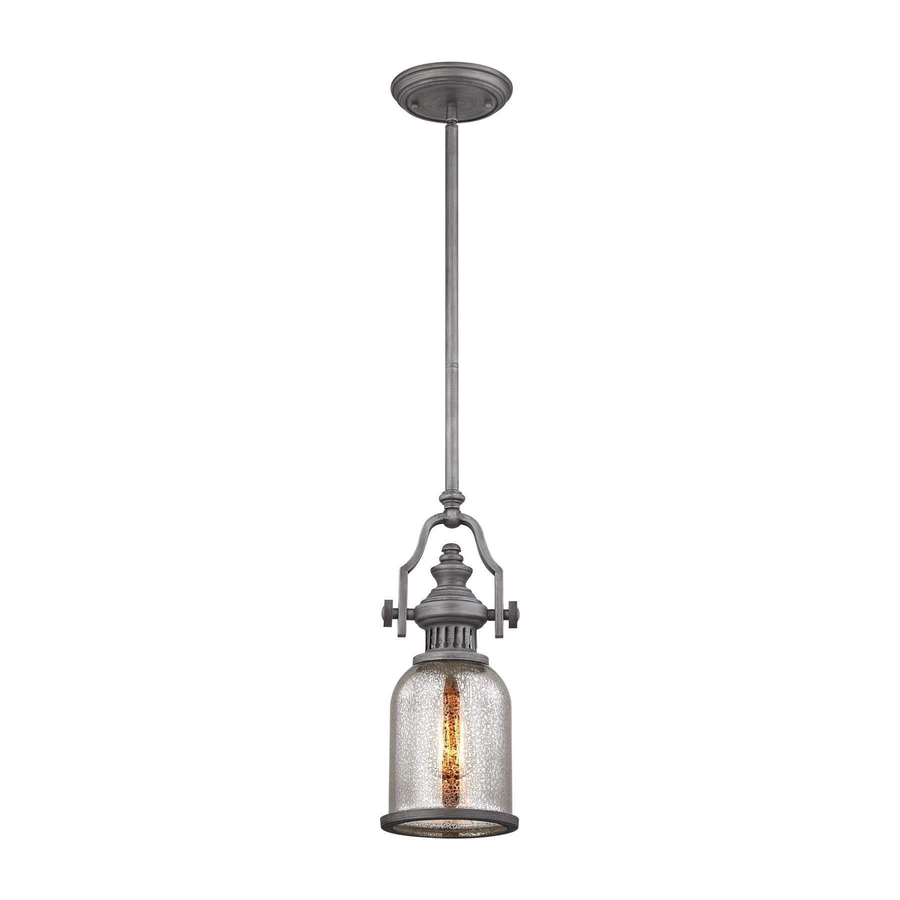 Chadwick 1 Light Pendant In Weathered Zinc