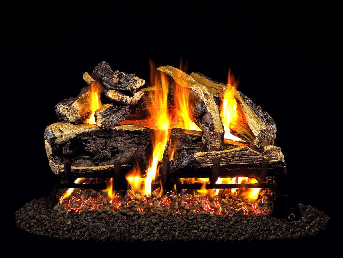 "R.H. Peterson CHRRSO-2-20 SeeThru 20"" Charred Rugged Split Oak. Logs Only (does not include burner). For use in wood burning fireplaces with a compatible vented gas log burner only."