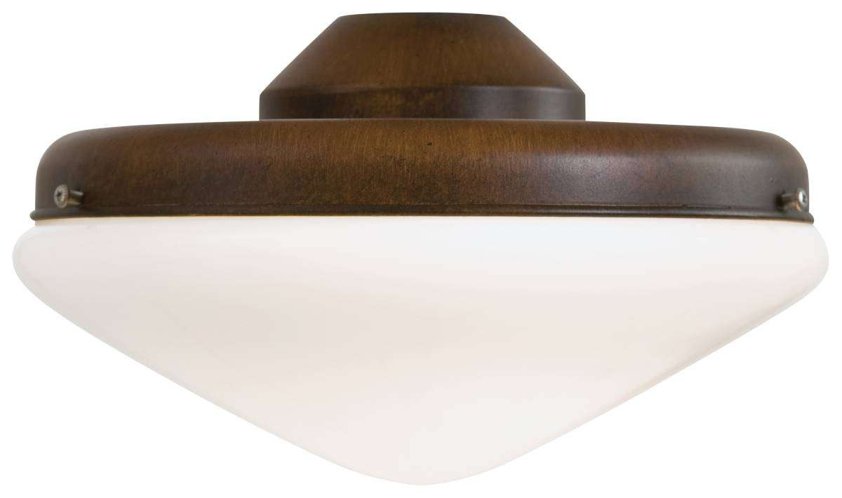 Minka Aire K9401-L-MW Single Globe Morosso Walnut Ceiling Fan Light Fixture