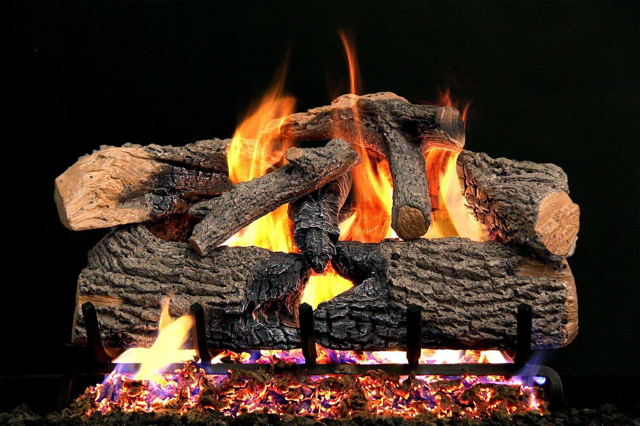 "R.H. Peterson ENO-30 Standard 30"" Charred Evergreen. Logs Only (does not include burner). For use in wood burning fireplaces with a compatible vented gas log burner only."