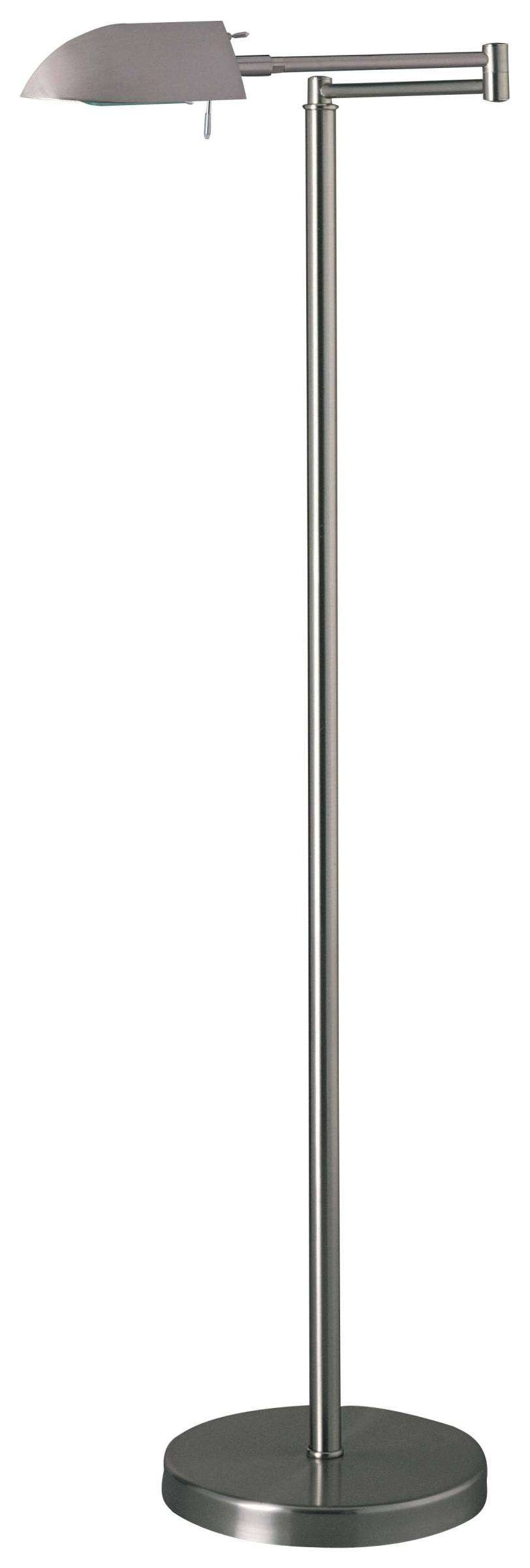 George Kovacs P4354-603 Floor Lamp in Matte Brushed Nickel finish with Metal