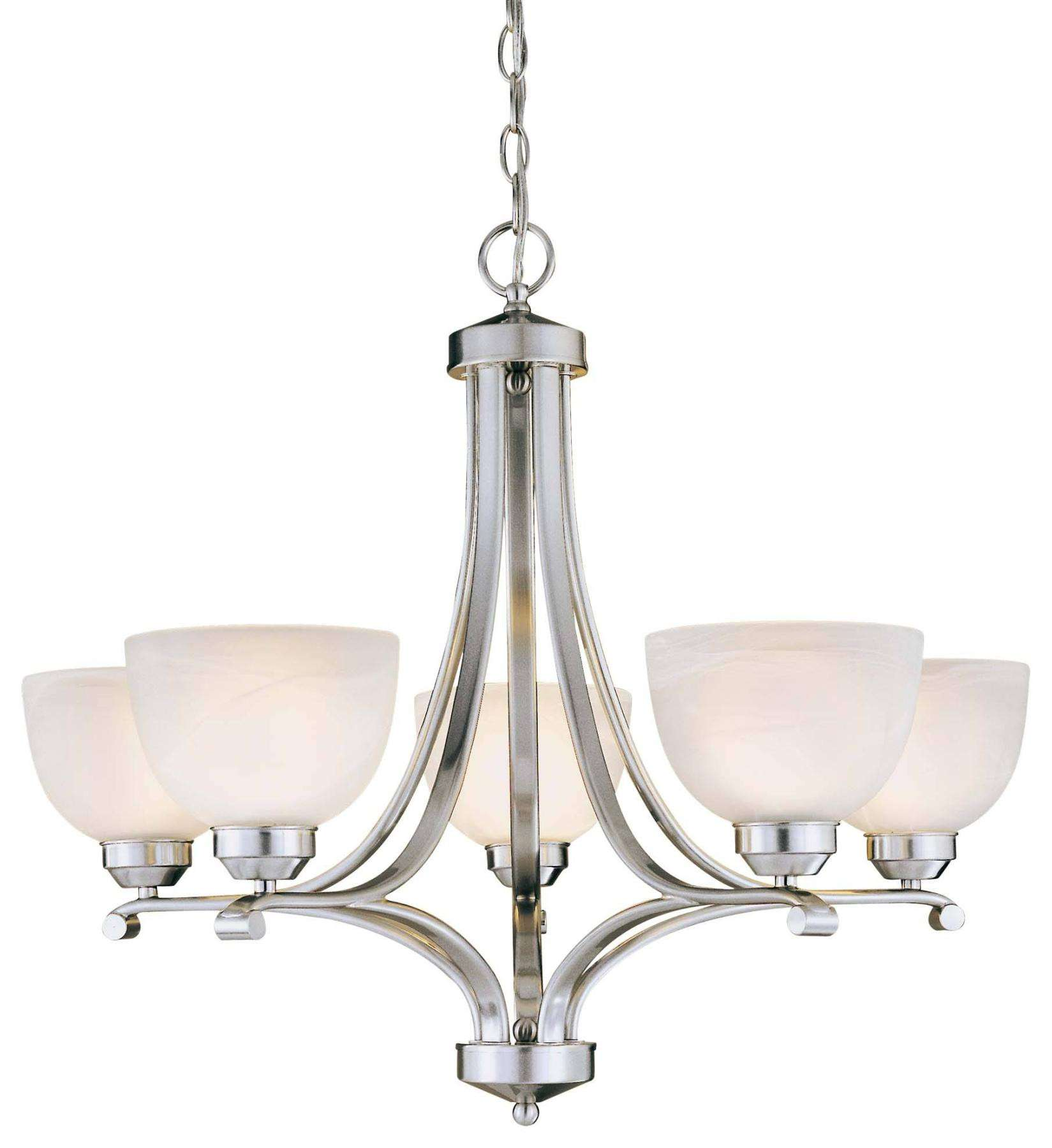 Minka Lavery Lighting 1425-84 9 Light Chandelier in Brushed Nickel finish