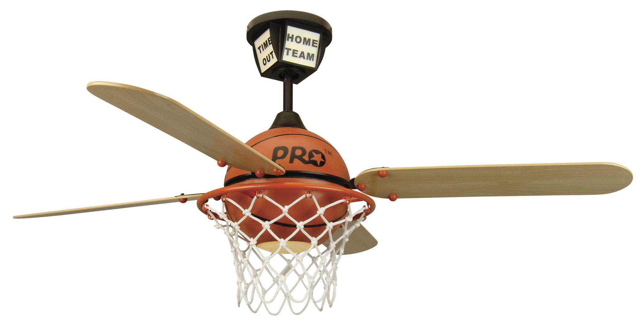 Craftmade ProStar Basketball in Black Canopy w/Orange Basketball