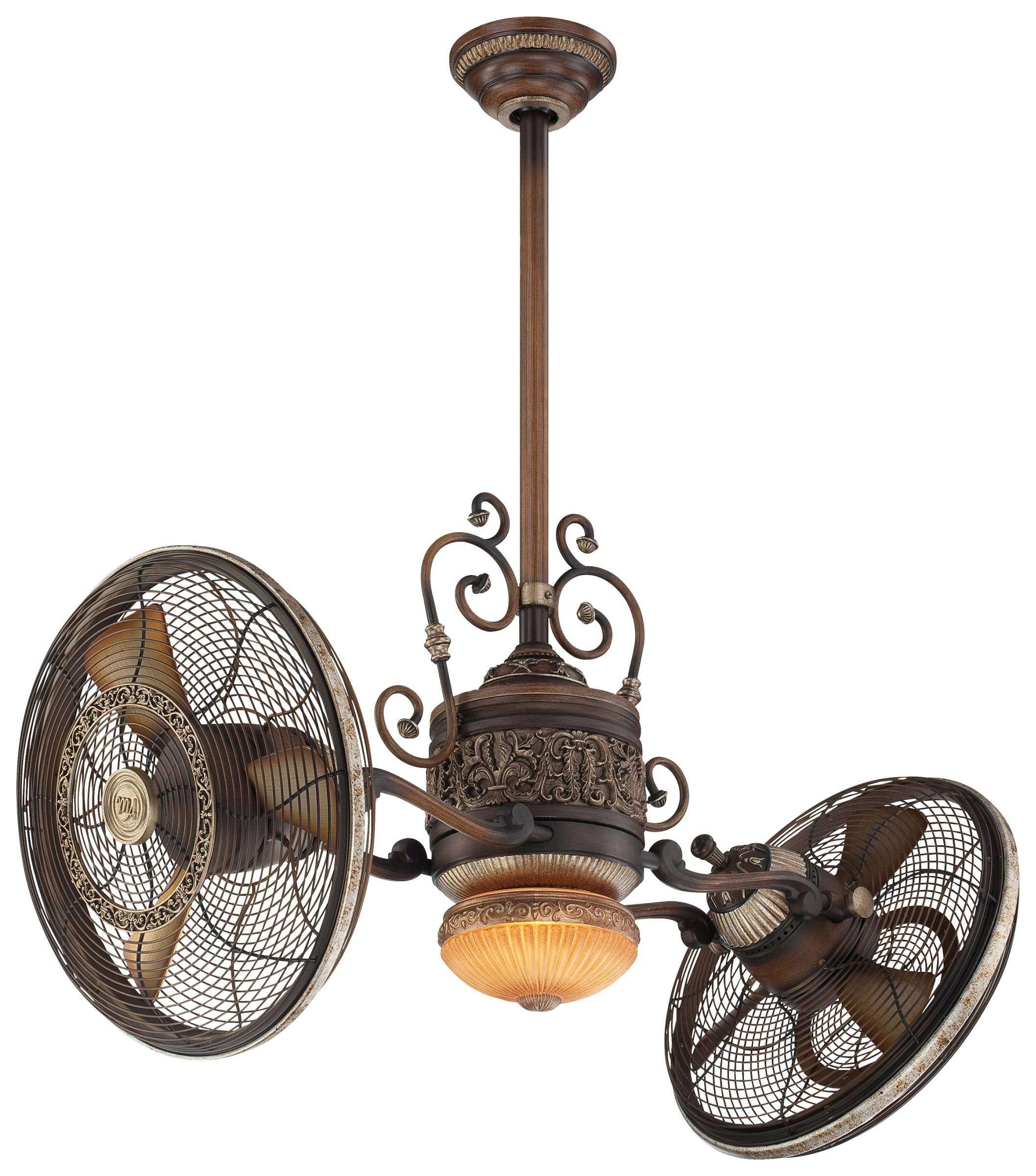 Minka Aire Gyro Traditional LED Ceiling Fan Model F502L-BCW in Belcaro Walnut