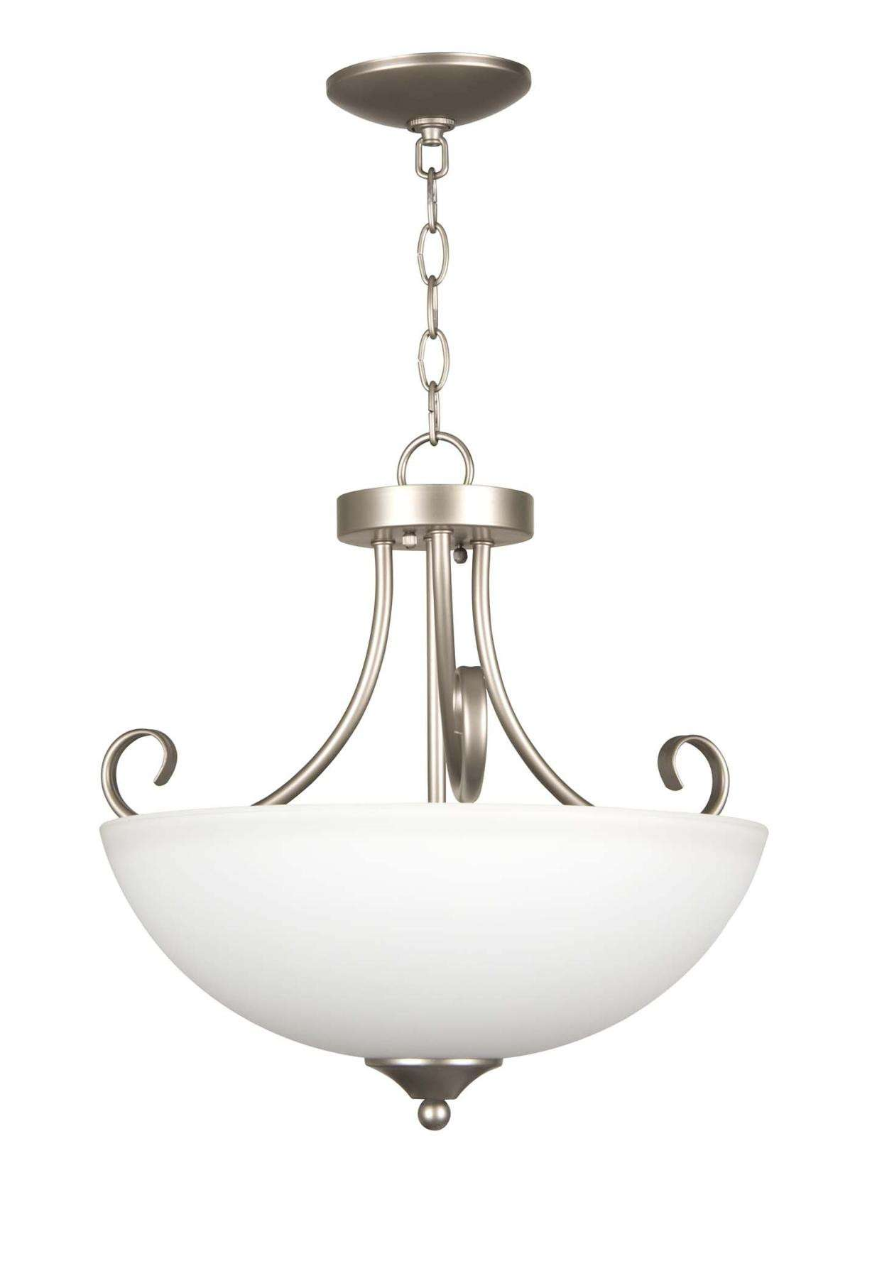 Raleigh - 3 Light Semiflush - Satin Nickel