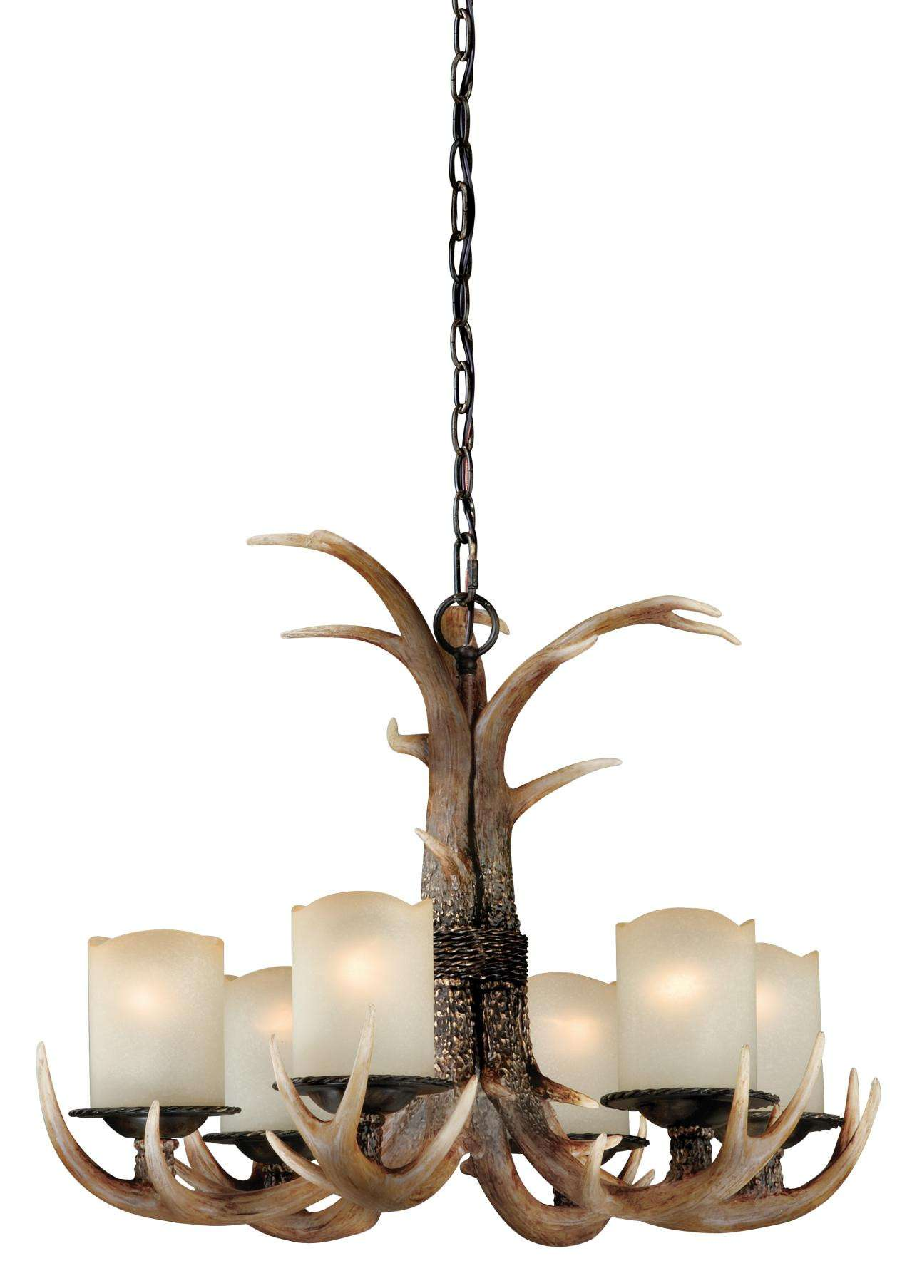 Yoho 6L Chandelier Black Walnut