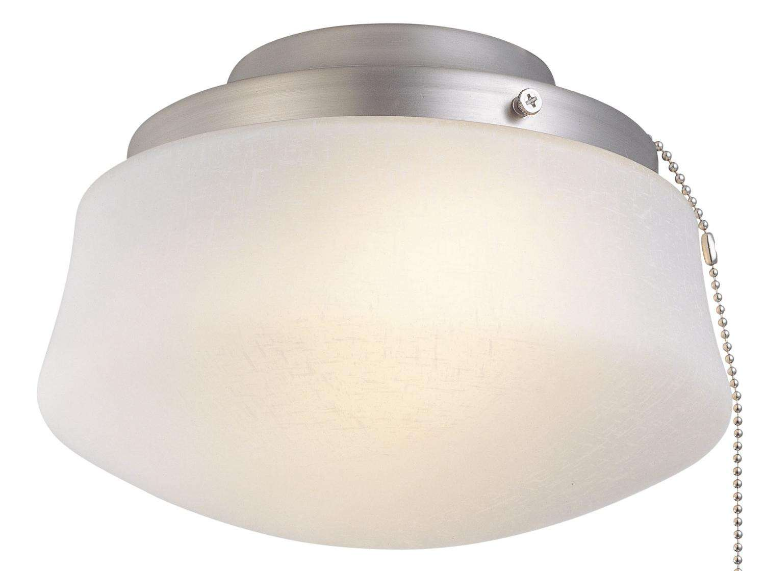 Fanimation FA-LKLP112WPW Single Globe Pewter Ceiling Fan Light Fixture