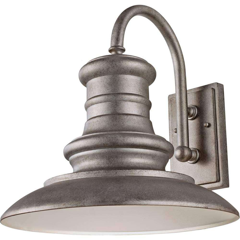 Redding Station 1 Bulb Tarnished Outdoor Lighting