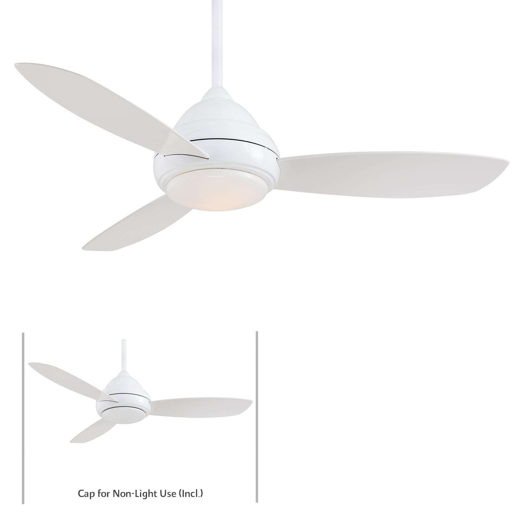 """Minka Aire 44"""" Concept I LED Indoor Only in White"""