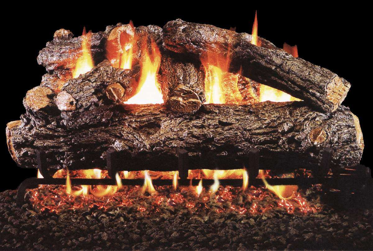 "R.H. Peterson HRD-36 Standard 36"" Rustic Oak Designer Plus. Logs Only (does not include burner). For use in wood burning fireplaces with a compatible vented gas log burner only."