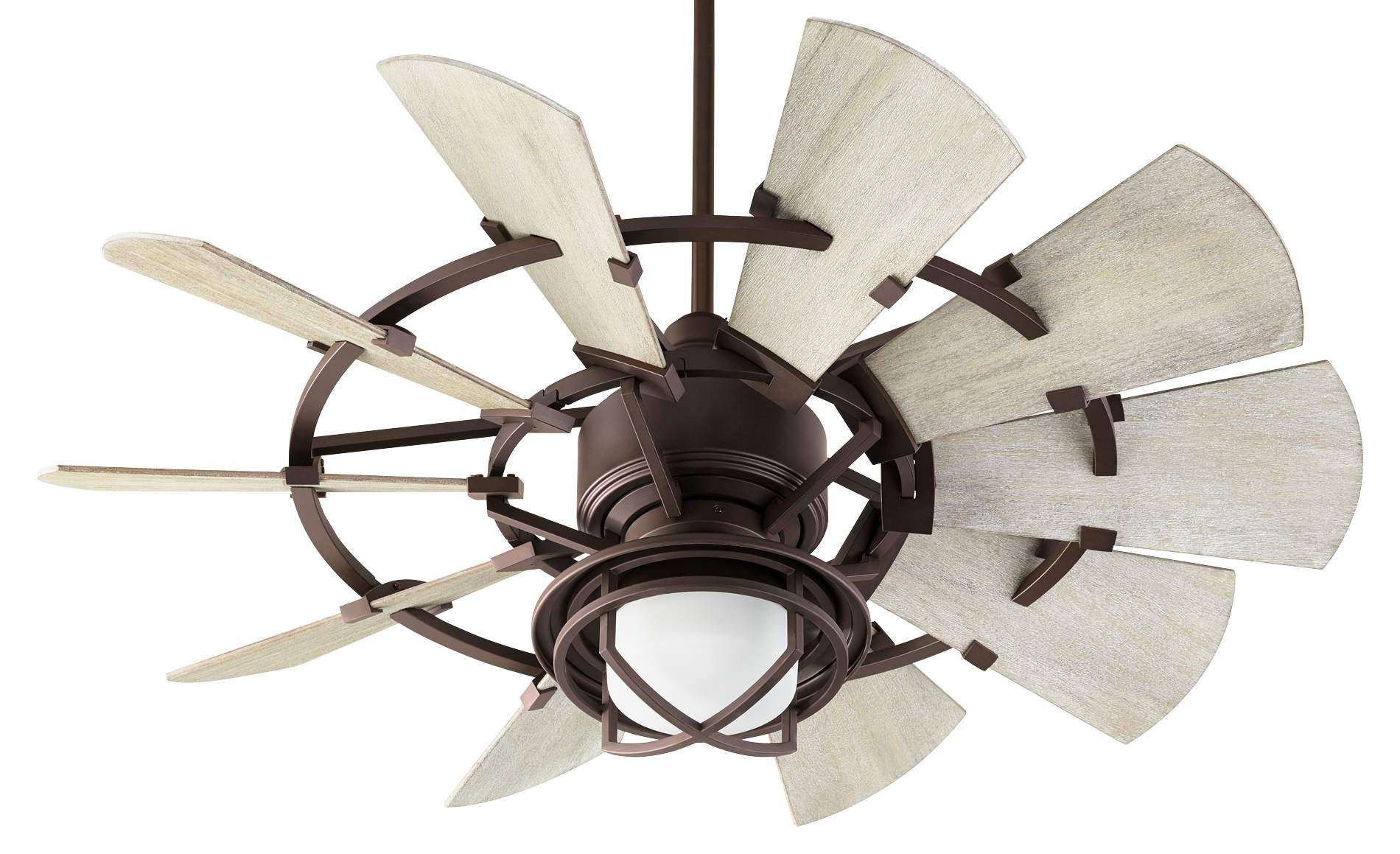 "Quorum 44"" Windmill Ceiling Fan Model 194410-86 Shown With 1904-86 Light Kit"