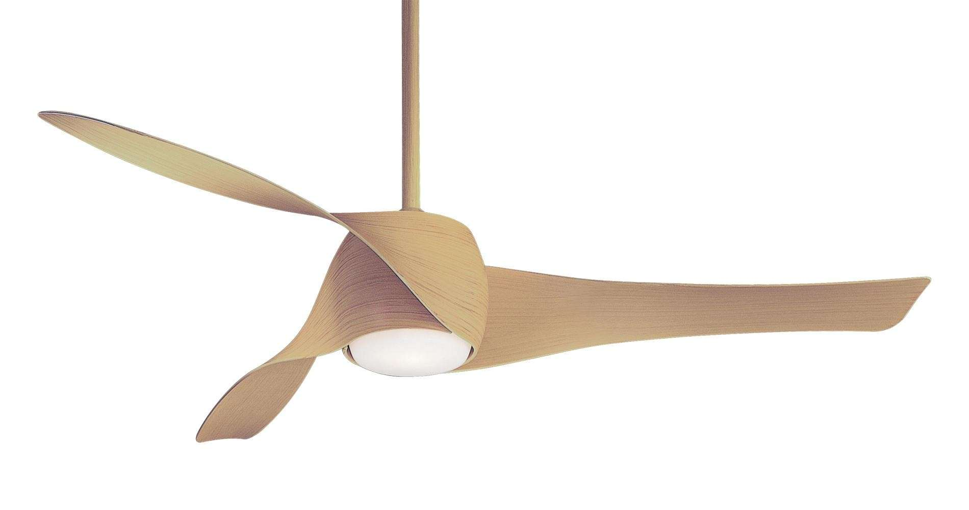 Minka Aire Artemis LED Ceiling Fan Model F803DL-MP in Maple