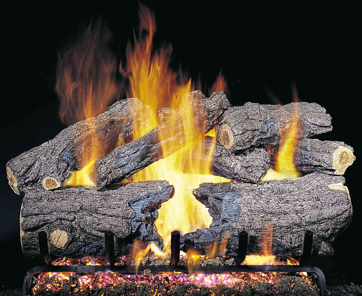 """R.H. Peterson CHH-20 Standard 20"""" Burnt Heritage Oak. Logs Only (does not include burner). For use in wood burning fireplaces with a compatible vented gas log burner only."""