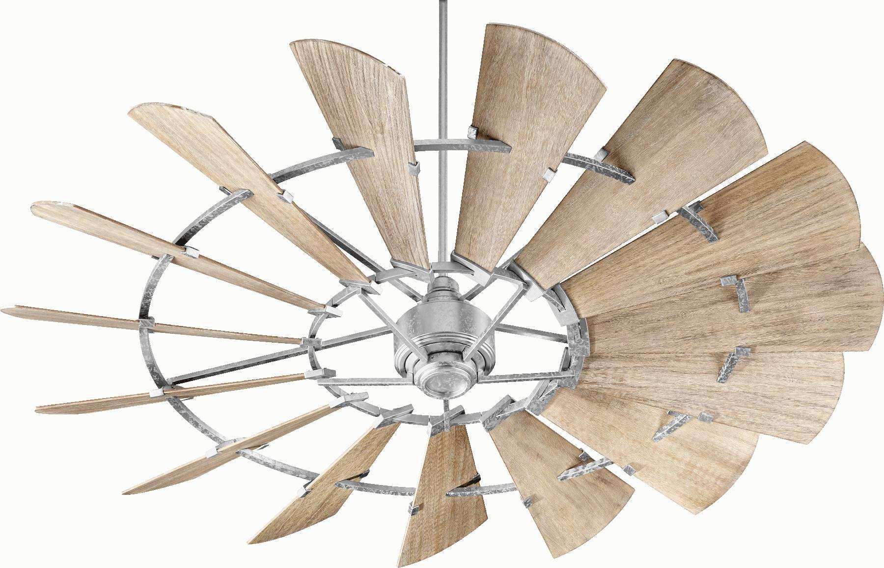 """Quorum 72"""" Windmill Ceiling Fan (Indoor) in Galvanized"""