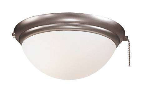 Minka Aire K9373-L-BS Single Globe Brushed Steel Ceiling Fan Light Fixture