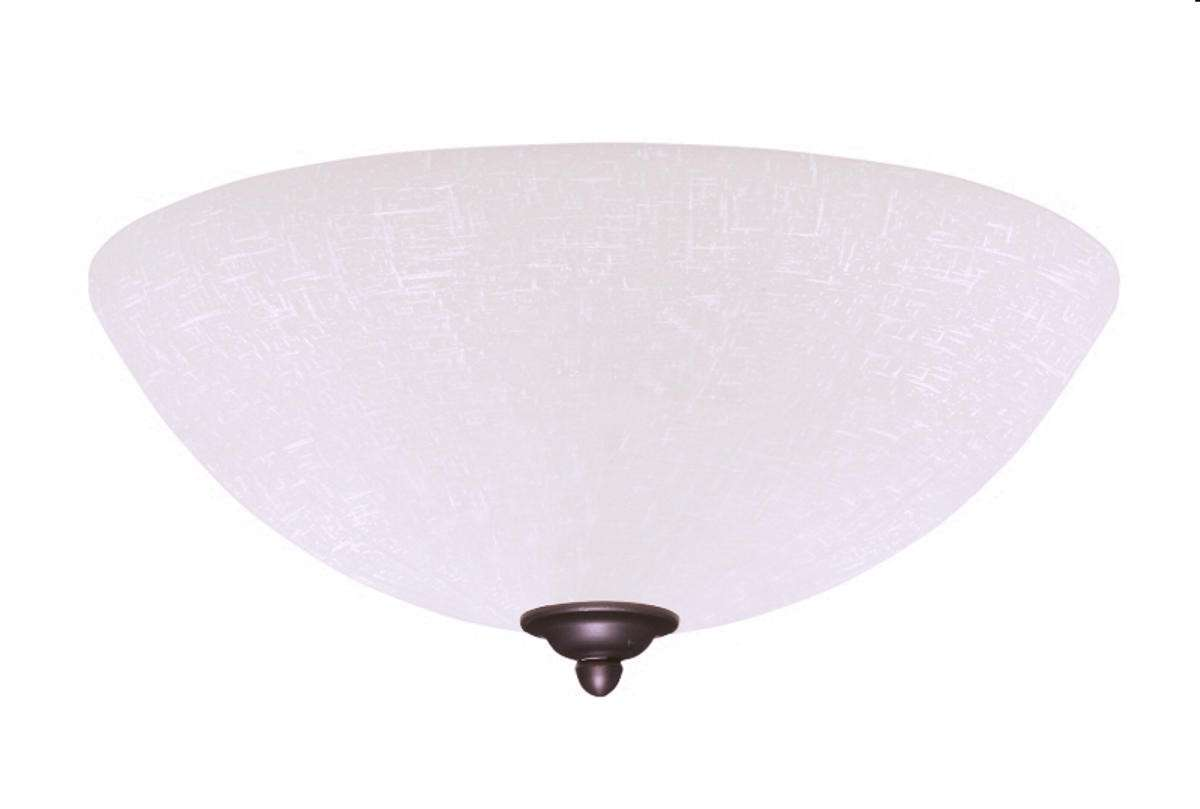 LK83WW Single Bowl Gloss White Ceiling Fan LED Light Fixture