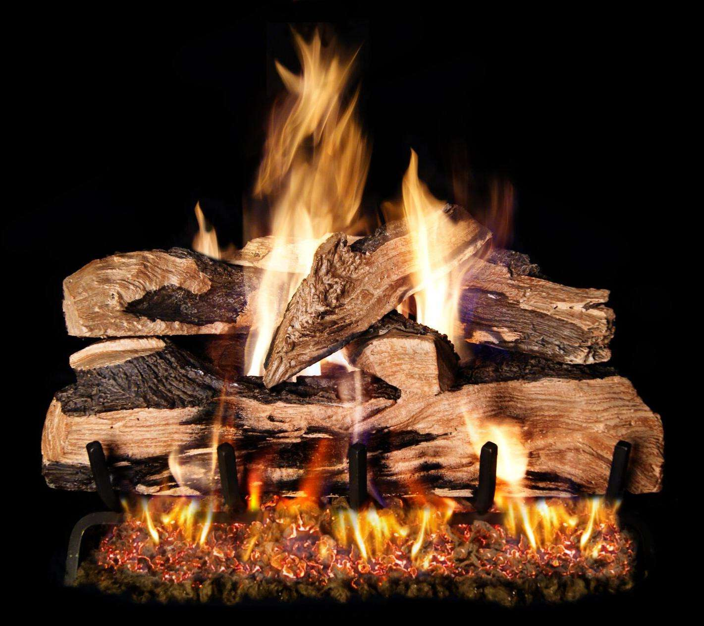 "R.H. Peterson SDP-2-24 SeeThru 24"" Split Oak Designer Plus. Logs Only (does not include burner). For use in wood burning fireplaces with a compatible vented gas log burner only."
