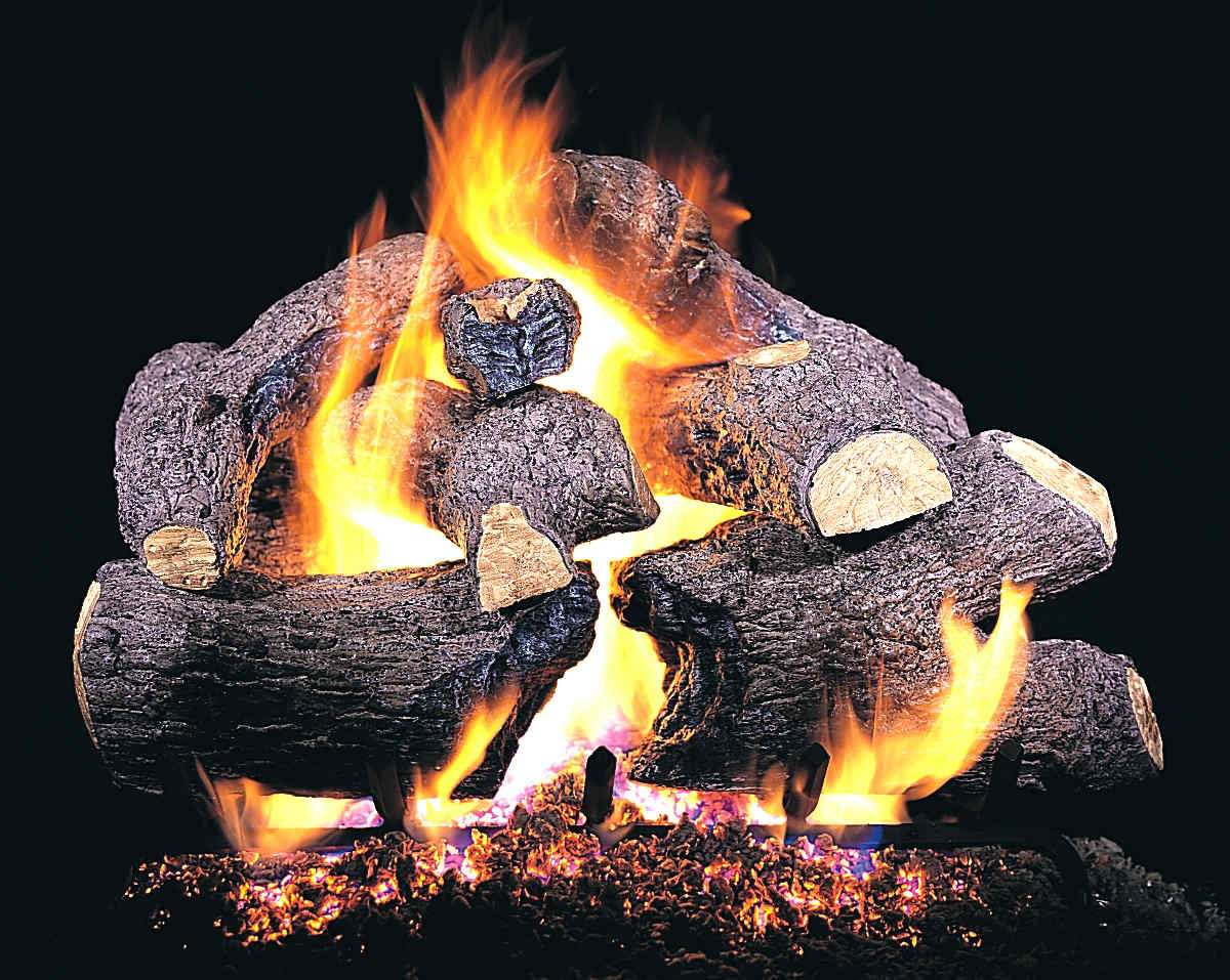 "R.H. Peterson CHB-24 Standard 24"" Charred Royal English Oak. Logs Only (does not include burner). For use in wood burning fireplaces with a compatible vented gas log burner only."