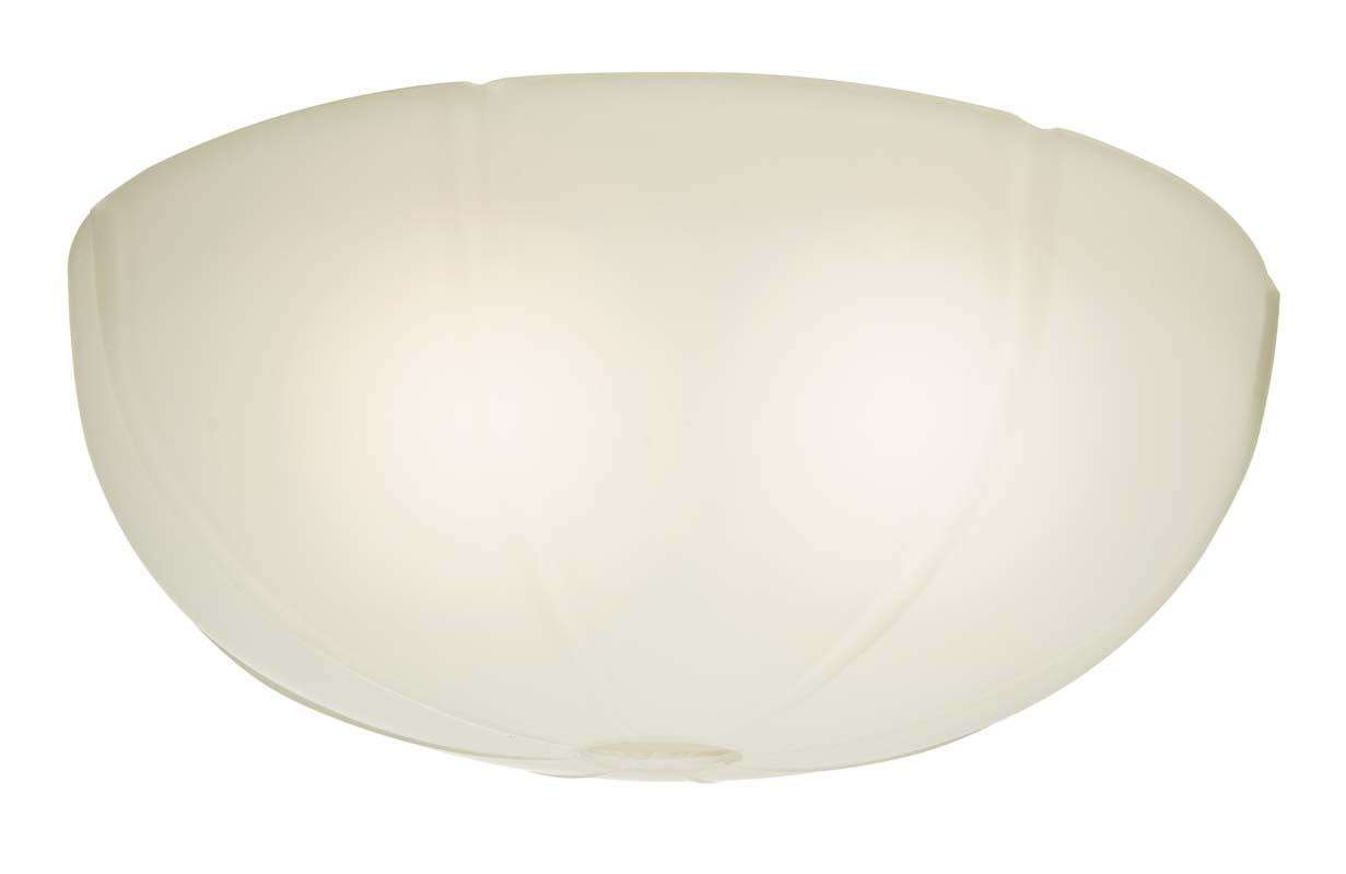 Transitional Ribbed Cased White Glass Bowl