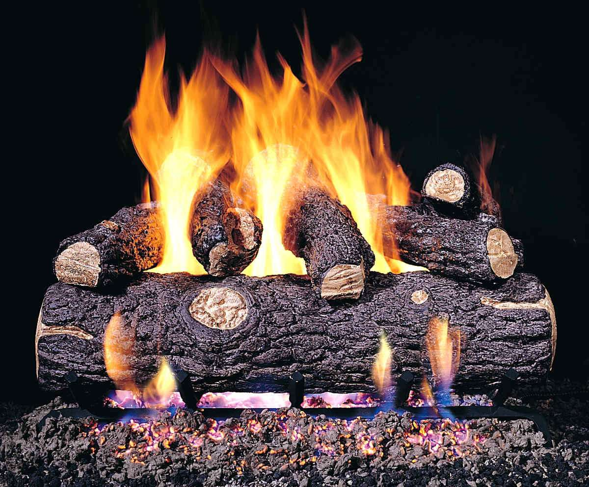 "R.H. Peterson RDP-42 Standard 42"" Golden Oak Designer Plus. Logs Only (does not include burner). For use in wood burning fireplaces with a compatible vented gas log burner only."