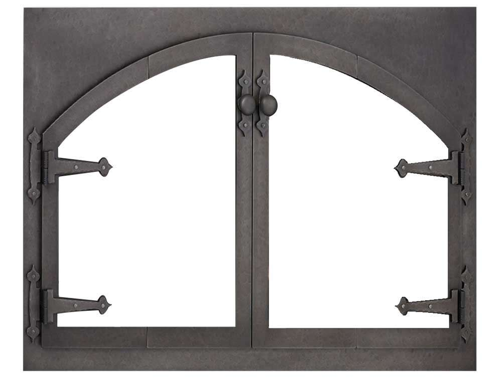 Design Specialties Blacksmith Rectangle Arch Fireplace Doors - Main Image