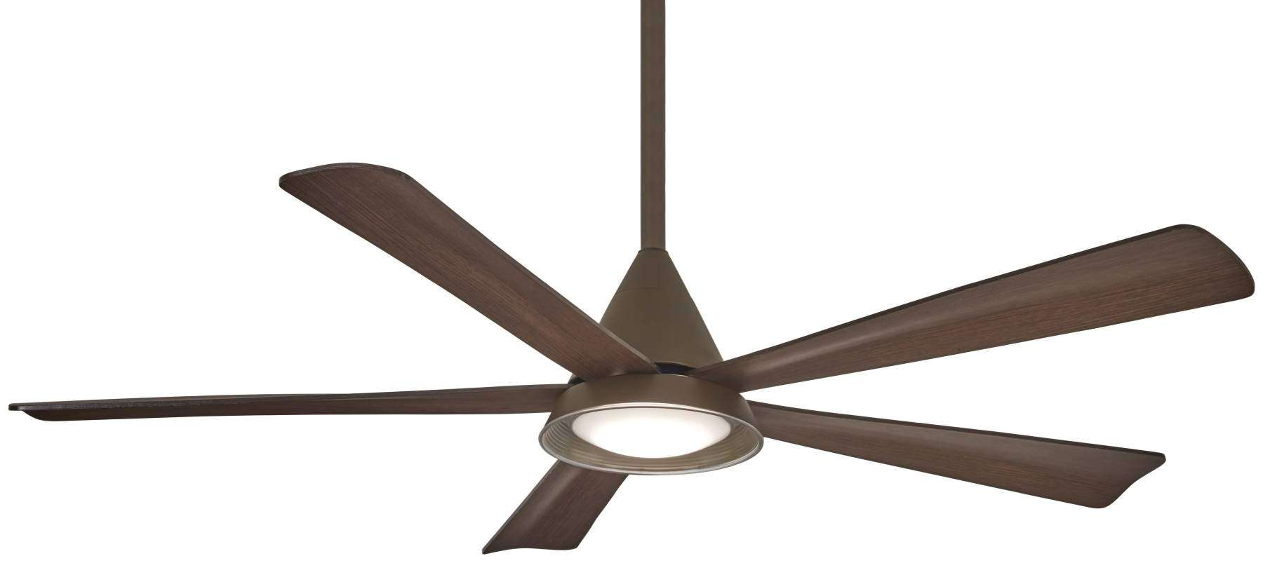 "Cone 54"" LED Ceiling Fan In Oil Rubbed Bronze"