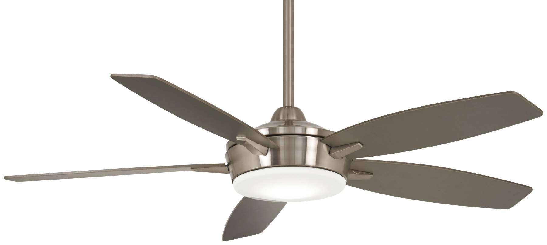 "Espace 52"" LED Ceiling Fan In Brushed Nickel And Silver"