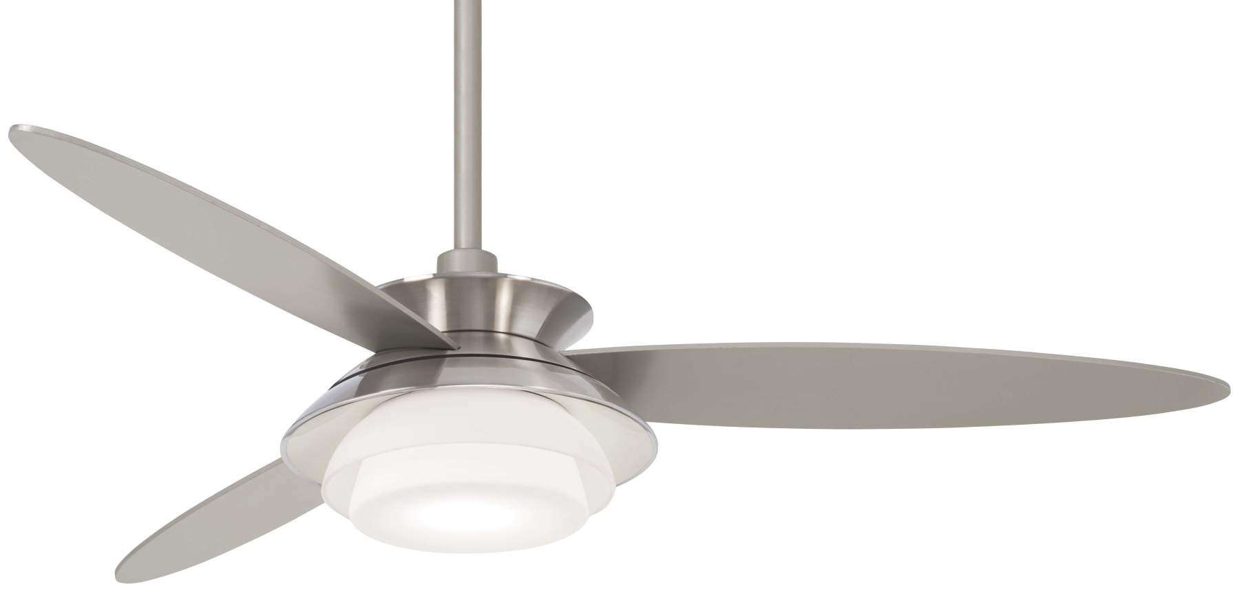 "Stack 56"" LED Ceiling Fan In Brushed Nickel And Silver"
