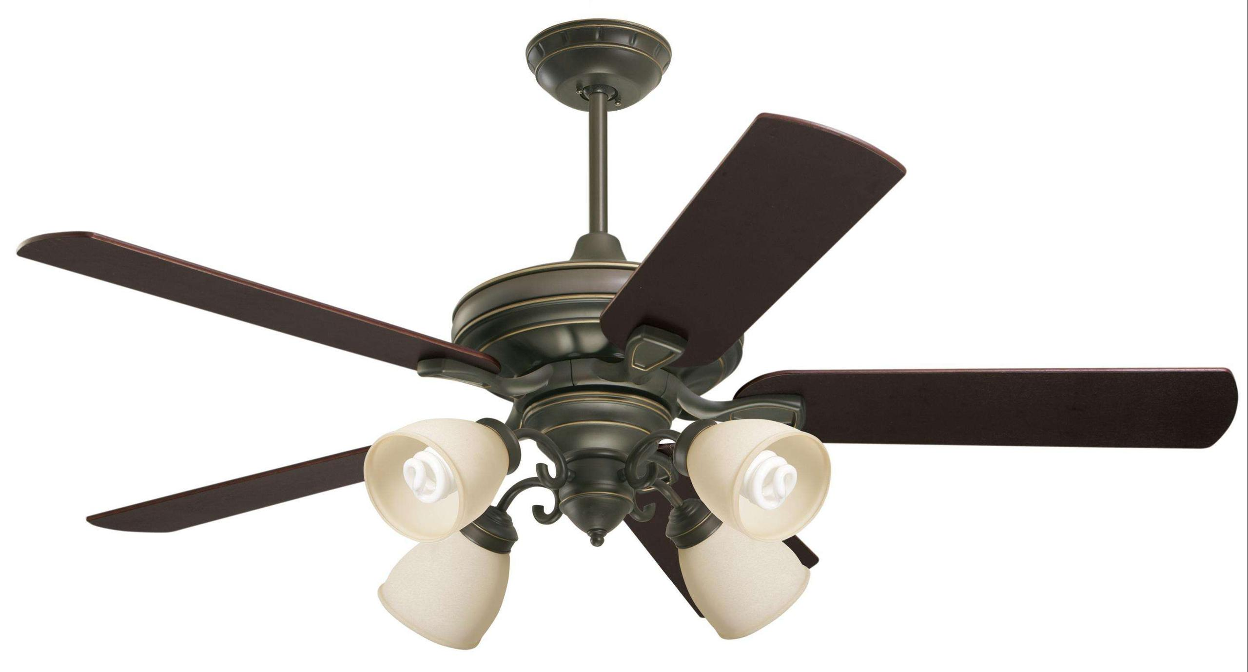 Emerson Carrera Grande Eco 60 (DC Motor) Ceiling Fan Model CF788GES-B78CH-F490GES-G58 in Golden Espresso