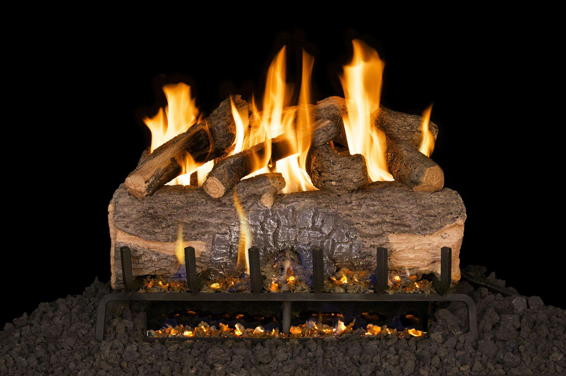 "R.H. Peterson MCO-30 Standard 30"" Mountain Crest Oak. Logs Only (does not include burner). For use in wood burning fireplaces with a compatible vented gas log burner only."