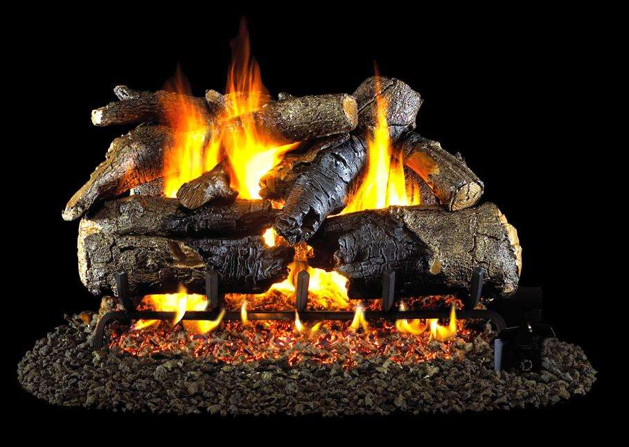 "R.H. Peterson CHAO-24 Standard 24"" Charred American Oak. Logs Only (does not include burner). For use in wood burning fireplaces with a compatible vented gas log burner only."
